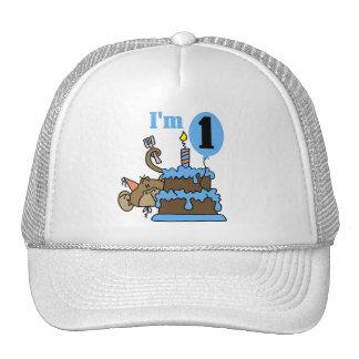 Boy Monkey I'm 1 Birthday Tshirts and Gifts Cap