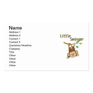 Boy Monkey Little Swinger Double-Sided Standard Business Cards (Pack Of 100)