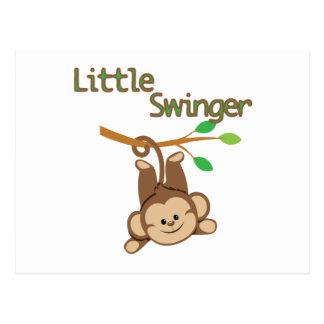 Boy Monkey Little Swinger Postcard