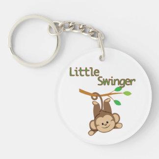 Boy Monkey Little Swinger Single-Sided Round Acrylic Key Ring