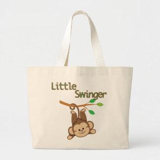 Boy Monkey Little Swinger Jumbo Tote Bag