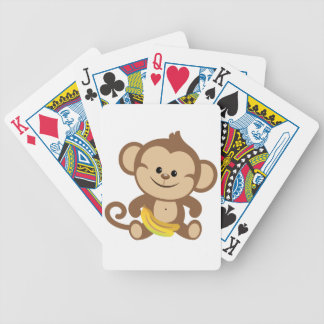 Boy Monkey With Banana Deck Of Cards