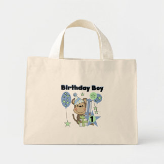 Boy Monkey With Gifts 1st Birthday Mini Tote Bag