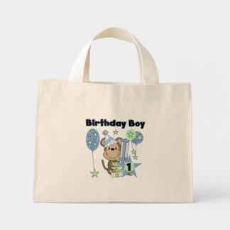 Boy Monkey With Gifts 1st Birthday Mini Tote Bag