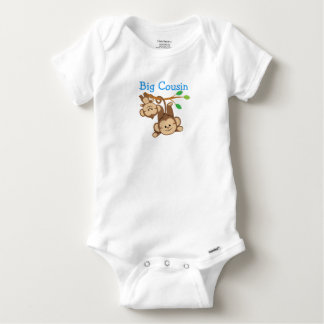 Boy Monkeys Big Cousin Baby Onesie
