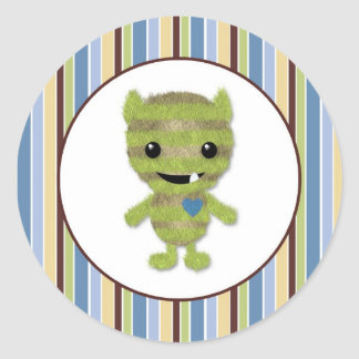 BOY MONSTER Peek a Boo Baby Monsters PABC #6 Round Sticker