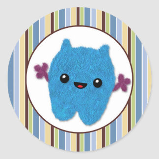 BOY MONSTER Peek a Boo Baby Monsters PABC #7 Round Sticker
