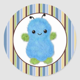 BOY MONSTER Peek a Boo Baby Monsters PABC #8 Round Sticker