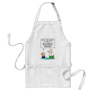 boy mow lawn endangered species standard apron