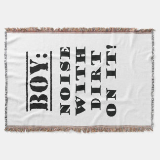 Boy - Noise with Dirt on It Throw Blanket