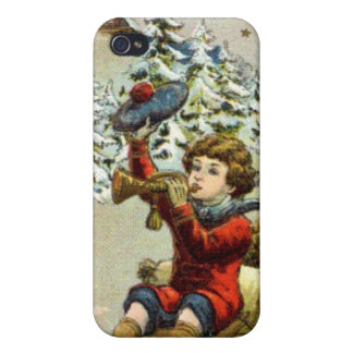 Boy on a sledge iPhone 4/4S cases