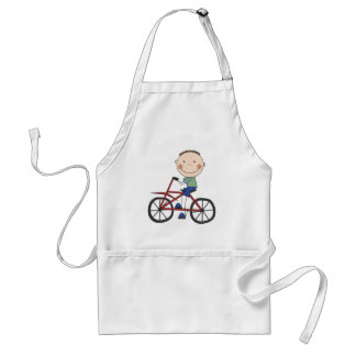 Boy on Bicycle Tshirts and Gifts Aprons