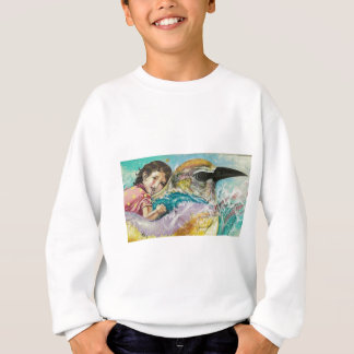 boy on bird graffiti sweatshirt