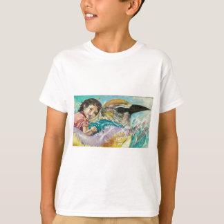 boy on bird graffiti T-Shirt