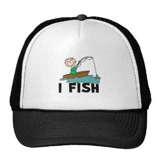 Boy on Boat I Fish Hat