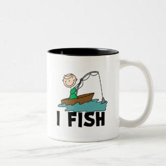 Boy on Boat I Fish Mug