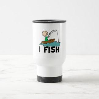 Boy on Boat I Fish Tshirts and Gifts Coffee Mug