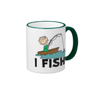 Boy on Boat I Fish Tshirts and Gifts Coffee Mugs