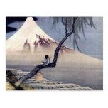 Boy on Mount Fuji, Hokusai