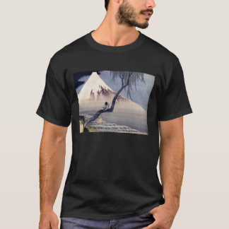 Boy on Mount Fuji, Hokusai T-Shirt