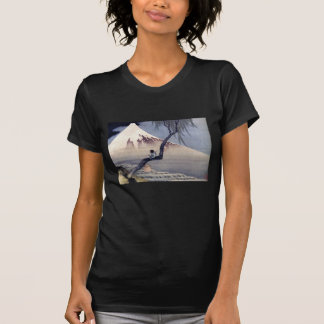 Boy on Mount Fuji, Hokusai Tee Shirt