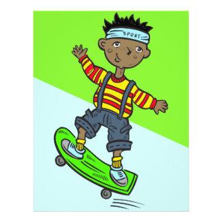 Boy On Skateboard 21.5 Cm X 28 Cm Flyer