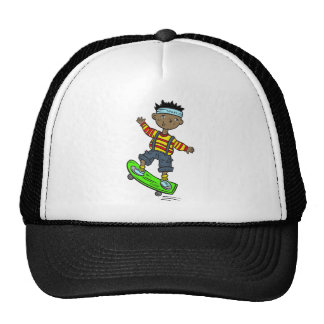 Boy On Skateboard Cap