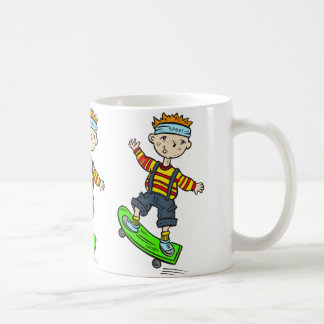 Boy On Skateboard Coffee Mug