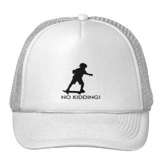 Boy on skateboard-Edit, NO KIDDING! Cap