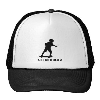Boy on skateboard-Edit, NO KIDDING! Trucker Hats
