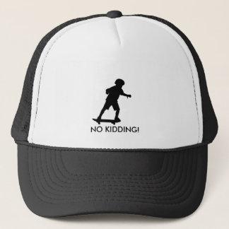 Boy on skateboard-Edit, NO KIDDING! Trucker Hat