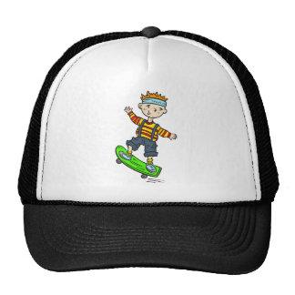 Boy On Skateboard Hats