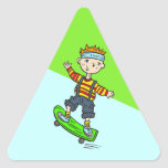 Boy On Skateboard Sticker
