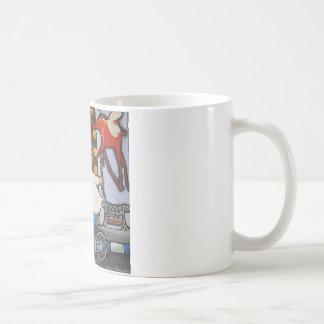 Boy on the bicycle basic white mug