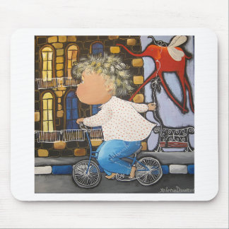 Boy on the bicycle mouse pad