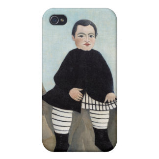 Boy On The Rocks - Henri Rousseau Cover For iPhone 4