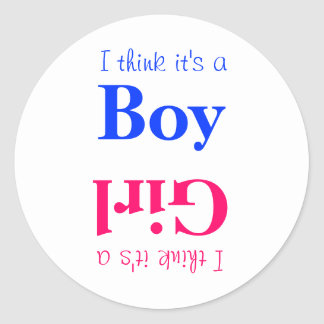 Boy or Girl Baby Gender Reveal Game Sticker