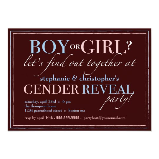 Boy or Girl Elegant Baby Gender Reveal Party