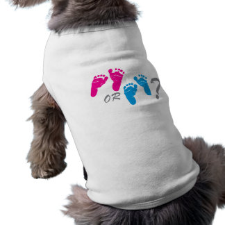 boy or girl? gender reveal party sleeveless dog shirt