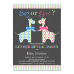 Boy or Girl Giraffe Gender Reveal Party 13 Cm X 18 Cm Invitation Card