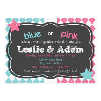 Boy or Girl Stars Gender Reveal Shower Invitation
