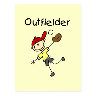 Boy Outfielder Tshirts and Gifts Postcards