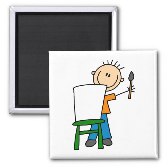 Boy Painting Magnet