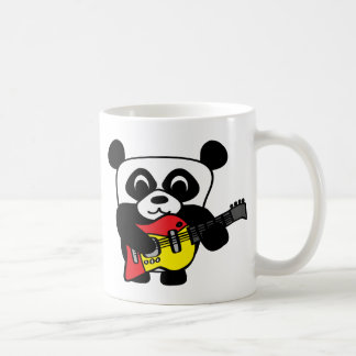 Boy Panda with Electric Guitar Coffee Mug