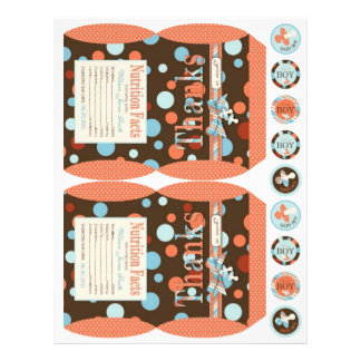 Boy Party Favor Mini Box Template OBB Personalized Flyer