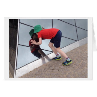 ​ Boy Peering Into Skylight Photo Card
