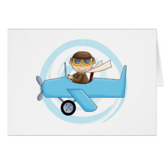 Boy Pilot Tshirts and Gifts Greeting Card