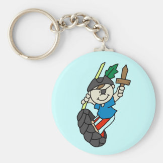 Boy Pirate Ahoy Matey Tshirts and Gifts Basic Round Button Key Ring