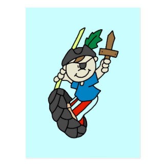 Boy Pirate Ahoy Matey Tshirts and Gifts Postcard
