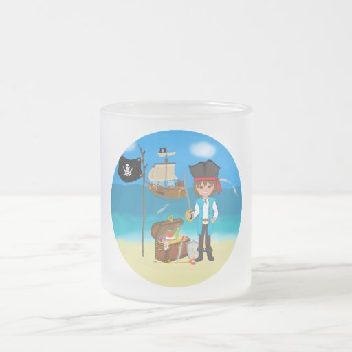Boy Pirate with Treasure Chest Mug